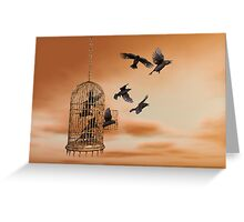 Freedom - Spread Your Wings and Fly Away Greeting Card