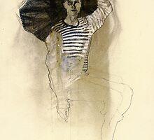 Hommage à Egon Schiele III by Ute Rathmann