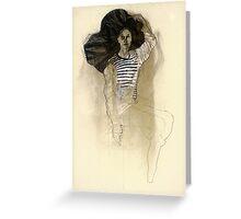 Hommage à Egon Schiele III Greeting Card