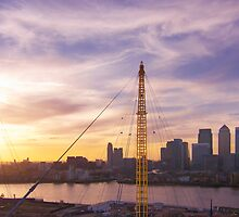 Sunset from the top of the O2 by gleadston