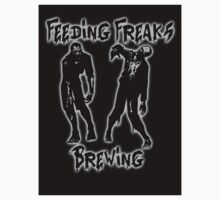 Grey and Black Logo Sticker by FeedingFreaks