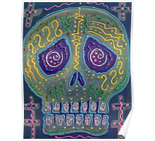 Great Electric Skull Poster