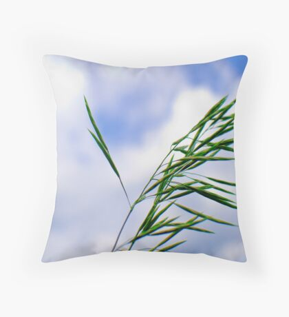 Laconic design of nature. The sky as the background Throw Pillow
