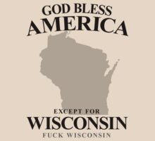 God Bless America Except For Wisconsin by crazytees