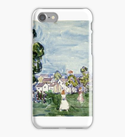 Maurice Brazil Prendergast SUMMER DAY, NEW ENGLAND.  iPhone Case/Skin