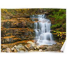 Stairs Falls - Falling Waters Trail, Little Haystack Mountain - Franconia Notch, NH 10-04-13 Poster