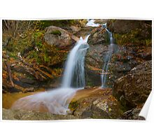 Swiftwater Falls - Falling Waters Trail, Little Haystack Mountain - Franconia Notch, NH 10-04-13 Poster