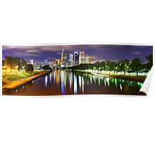 Yarra River by Night, Melbourne, Victoria, Australia Poster