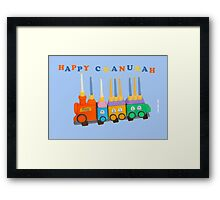 Chanukiyah Greeting Card Framed Print
