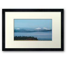 Misty Trossachs  Framed Print