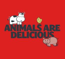 Animals Are Delicious One Piece - Short Sleeve