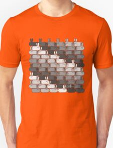 Stadium GeoBunnies Gray Scale Pattern Unisex T-Shirt