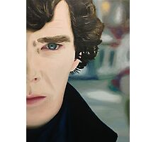 sherlock - oil Photographic Print