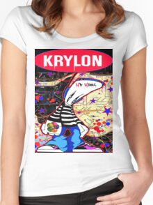 New York City Subaway Graffit Art Map Krylon Women's Fitted Scoop T-Shirt