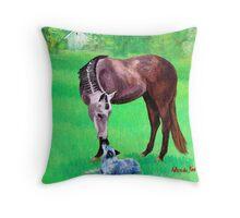 Best Friends Quarter Horse Throw Pillow
