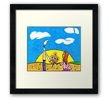 Daisies from Daddy Framed Print