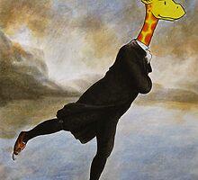 Art Giraffe- The Skating Minister by Sundayink