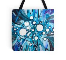 Medium Hadron Collider - Watercolor Painting Tote Bag