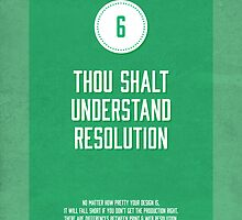Commandment #6 of graphic design by janna barrett