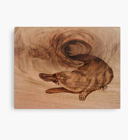 PYROGRAPHY: Platypus Canvas Print