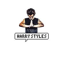 Harry Styles pixel white iPhone case by jess1d13