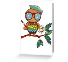 Little Wise Artist Greeting Card