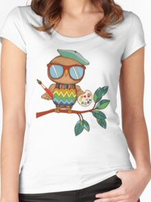 Little Wise Artist Women's Fitted Scoop T-Shirt