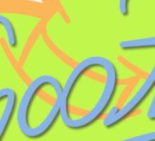 Goofy Symbol & Signature Sticker