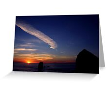 CANON BEACH SUNSET~ Greeting Card