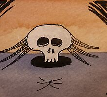 Spider & Skull by jadlart