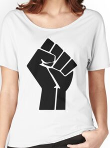 Raised Fist / Black Power Symbol Women's Relaxed Fit T-Shirt