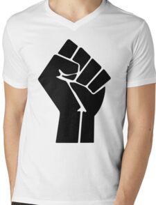 Raised Fist / Black Power Symbol Mens V-Neck T-Shirt