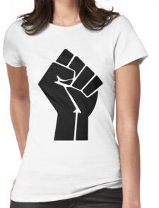 Raised Fist / Black Power Symbol Womens Fitted T-Shirt