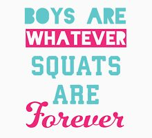 Boys Are Whatever Squats Are Forever (Pink, Blue) T-Shirt