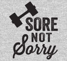 Sore Not Sorry (Black) by Fitspire Apparel