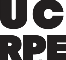 Buck Furpees (Black) Sticker