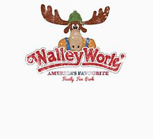 Walley World Logo With Text Distressed Womens Fitted T-Shirt