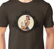 Pinup Illustrator girl Unisex T-Shirt