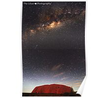 The Rock with Milkyway + Shooting Star Poster