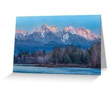 Ragged Ridge Sunset Reflections  Greeting Card