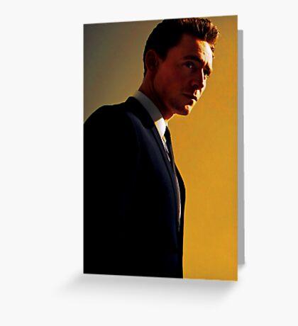 Tom Hiddleston Gray & Yellow Greeting Card