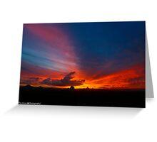 HDR Sun Set Greeting Card