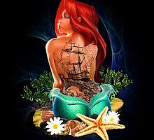Lady Mermaid - Inked by jebez-kali