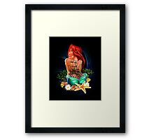 Lady Mermaid - Inked Framed Print