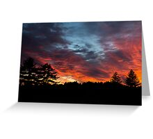Sunset From Memorial Field- Concord, NH 10-11-13 Greeting Card
