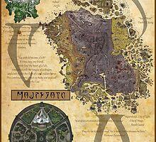 Morrowind The Elder Scrolls Map by AsmoArt