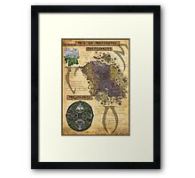 Morrowind The Elder Scrolls Map Framed Print
