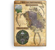 Morrowind The Elder Scrolls Map Metal Print