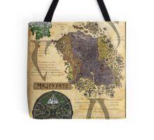 Morrowind The Elder Scrolls Map Tote Bag