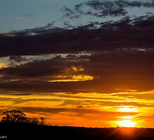 Parker River Wildlife Refuge Sunset -  Newbury, MA 11-06-13 by David Lipsy